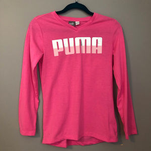 Puma pink long sleeved shirt - 14/16